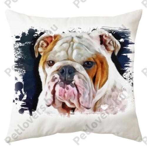 Angol Bulldog mintás párna - paint white