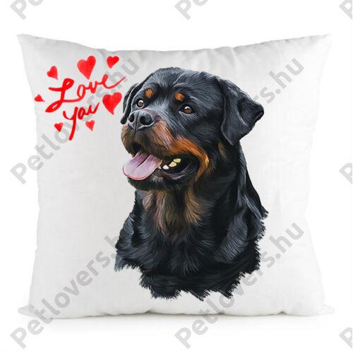 Rottweiler mintás párna - Love you 2