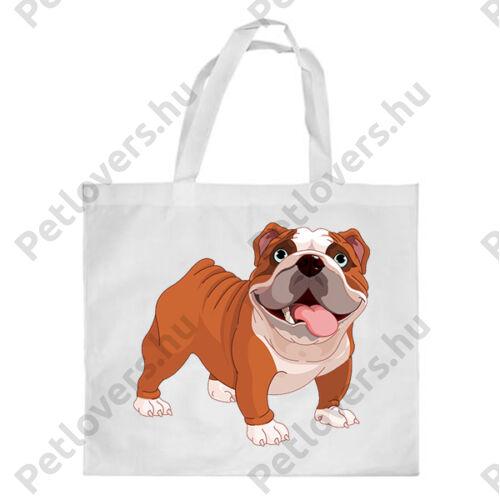 Angol Bulldog mintás bevásárló táska
