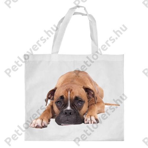 Boxer mintás bevásárló táska