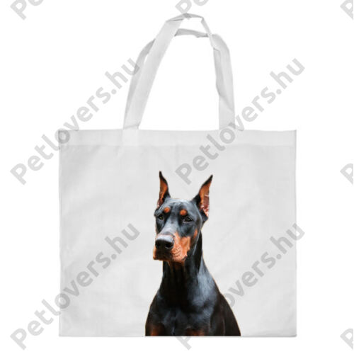 Dobermann mintás bevásárló táska