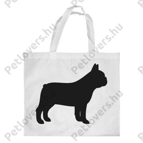 Francia Bulldog mintás bevásárló táska