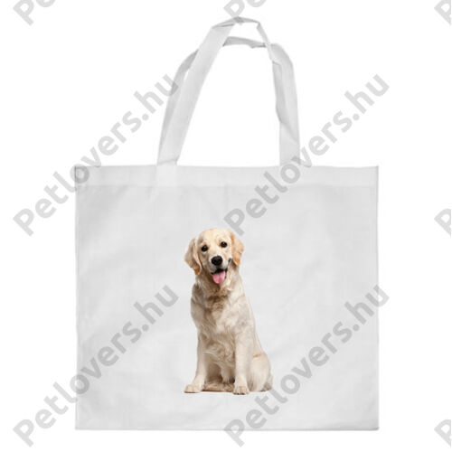 Golden retriever mintás bevásárló táska