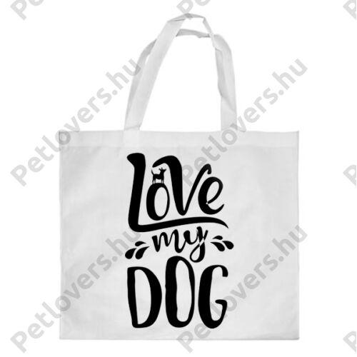 Love My Dog mintás bevásárló táska