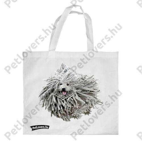 Puli mintás bevásárló táska - fehér