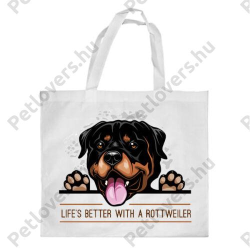 Rottweiler mintás bevásárló táska