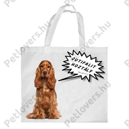 Spániel bevásárló táska - jutifali