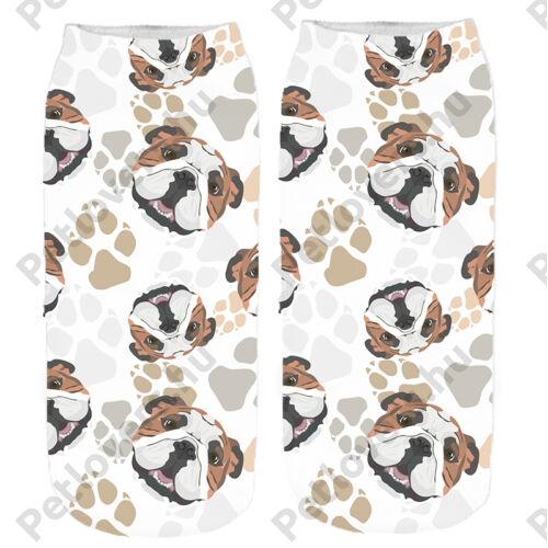 Angol Bulldog mancsos zokni - fej