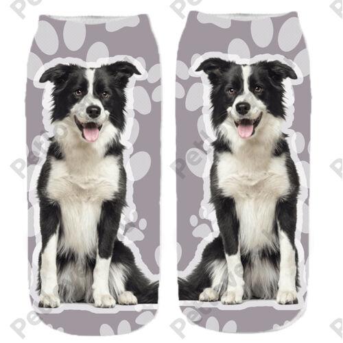 Border Collie mintás zokni - mancsos