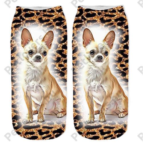 Chihuahua leopárd mintás zokni