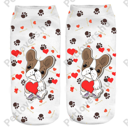 Francia Bulldogos zokni - szives