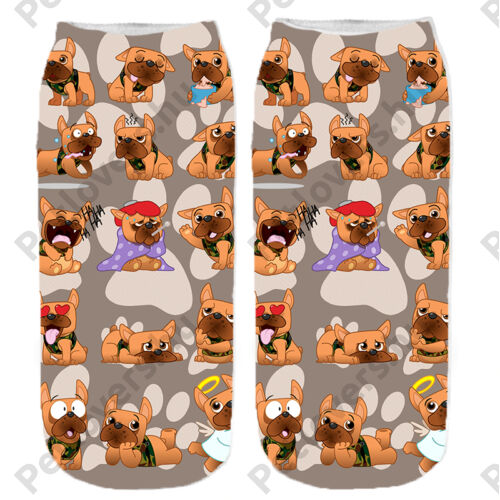 Francia Bulldogos zokni - cartoon