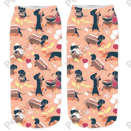 Tacskó mintás zokni - hot dog