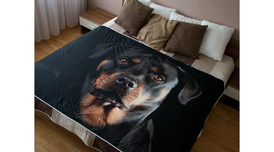 Rottweiler ágytakaró - Kutyás ágytakaró - Egyedi kutyás 1d98f1cf55