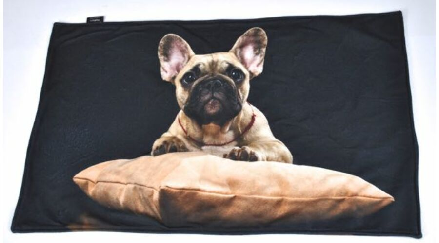 Francia Bulldog mintás takaró - bézs - Takarók - Egyedi kutyás ... 8ca9a5aebe